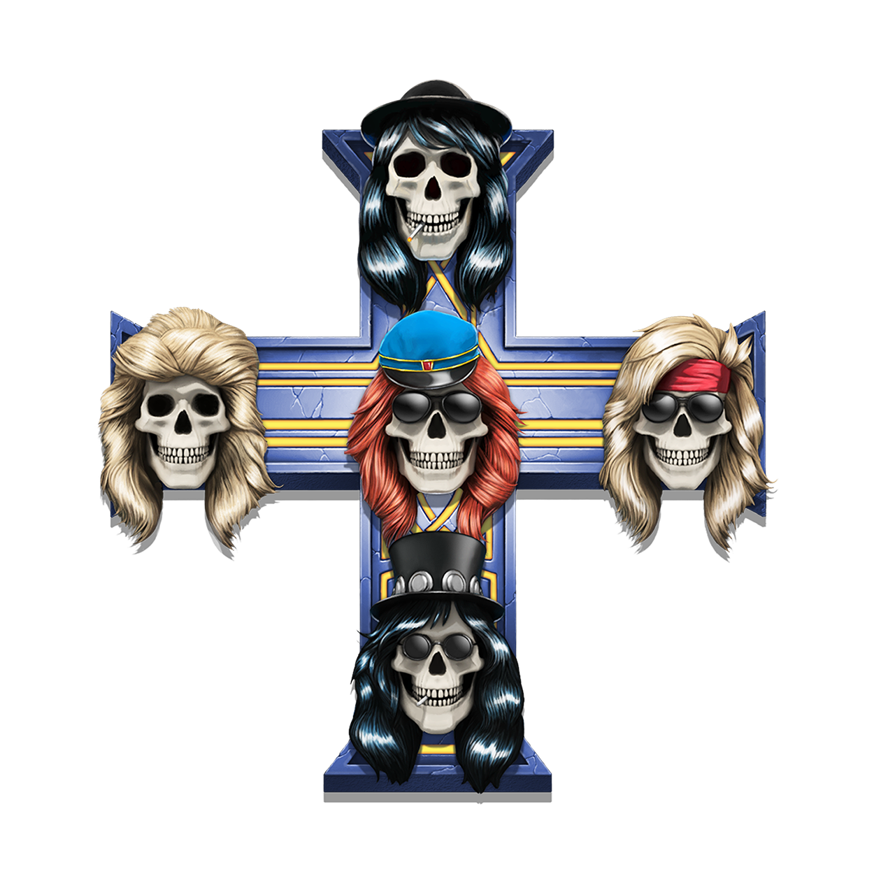 Guns N' Roses spilleautomat Appetite for destruction symbol norske casino