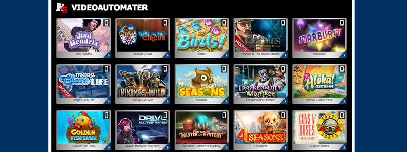 Nordicslots casino norske spilleautomater lobby